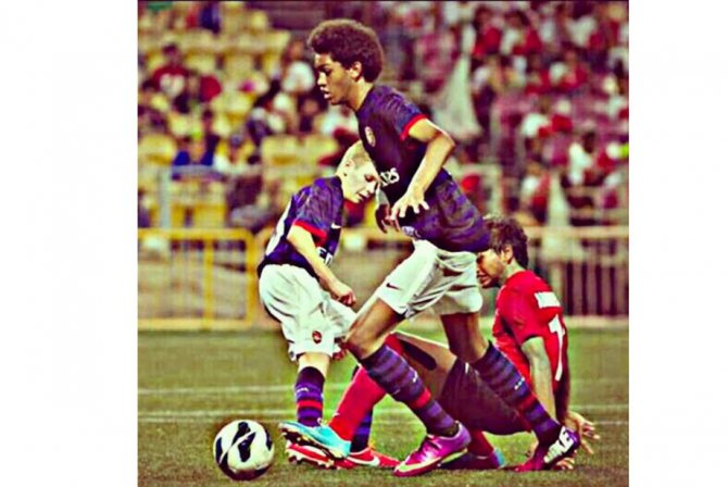 15-летний Укаши Уоллес на турнире Lion City Cup.