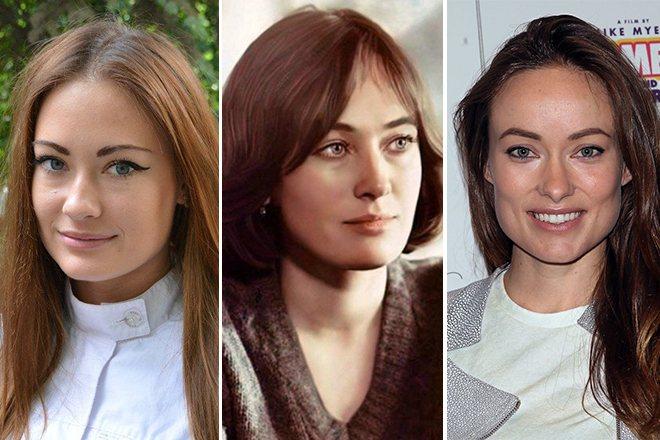 Александра Попова, Лариса Гузеева и Оливия Уайлд