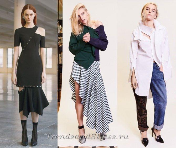 асимметрия модные тенденции осень зима 2017 2018 одежда