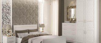 белый шкаф в интерьере спальни