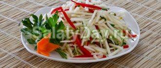 Быстрый салат из китайской капусты