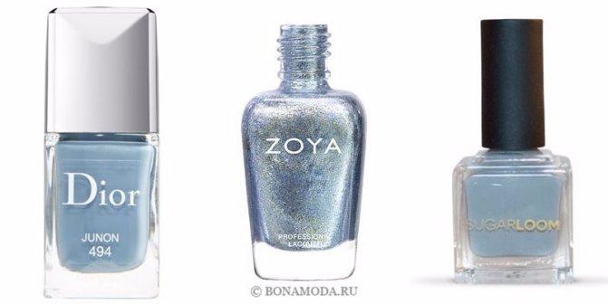 Цвета лака для ногтей 2020: модные новинки - нейтральный серо-голубой