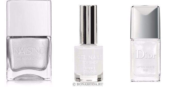Цвета лака для ногтей 2020: модные новинки - перламутровый жемчужный серо-белый
