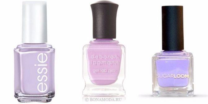 Цвета лака для ногтей 2020: модные новинки - светлый и яркий лиловый и сиреневый