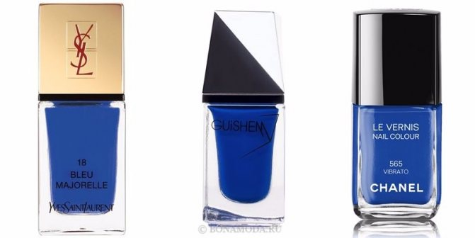Цвета лака для ногтей 2020: модные новинки - яркий королевский синий