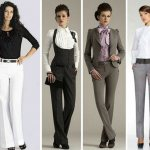 девушки в деловых костюмах