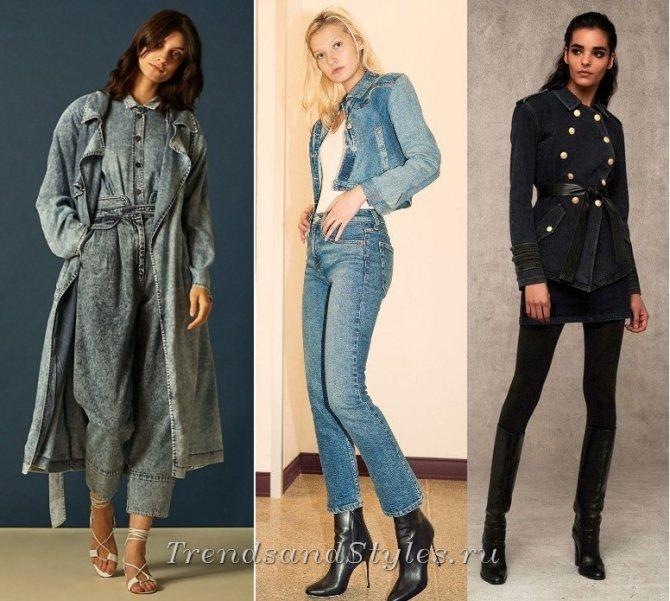 джинсовая одежда осень-зима 2018-2019 - тренды, фото
