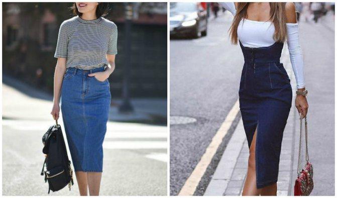 джинсовая юбка карандаш 2019