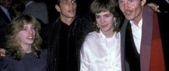 Эрик Робертс с сестрой Джулией Робертс в молодости
