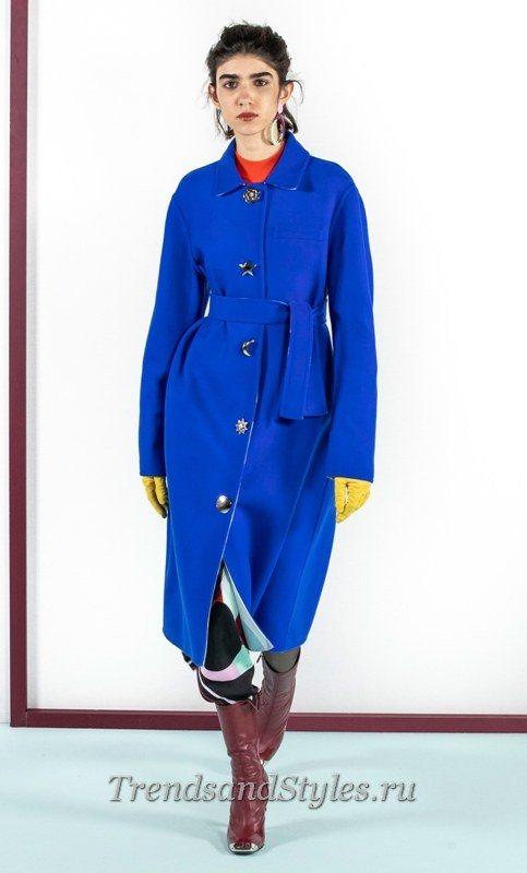 фото женское синее пальто 2020