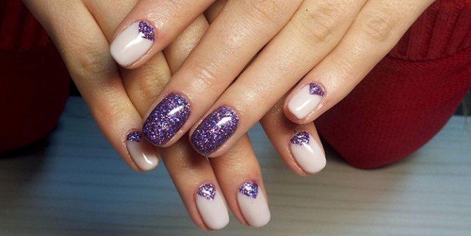 Гель лак на ногтях