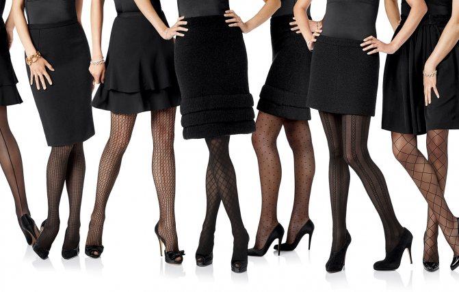 Как подобрать колготки под платье