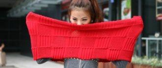 Как правильно носить шарф хомут?