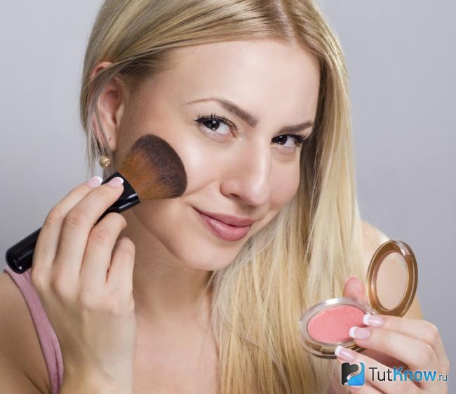 Как сделать макияж скул румянами