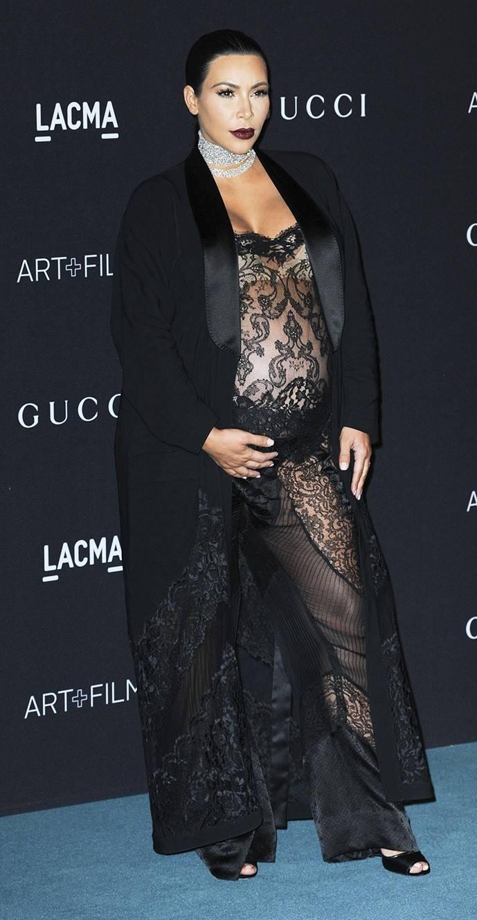 Ким Кардашьян на гала-вечере LACMA Art Film Gala 2015, 8 ноября 2015 г.
