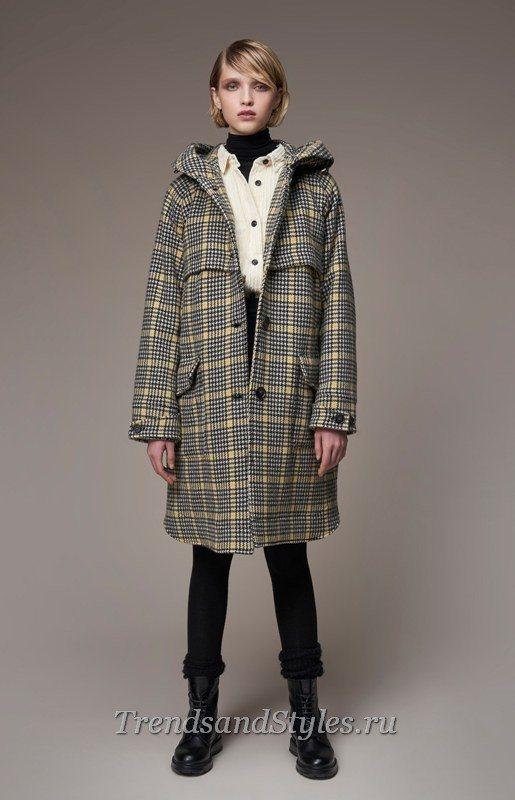 клетчатое пальто 2020