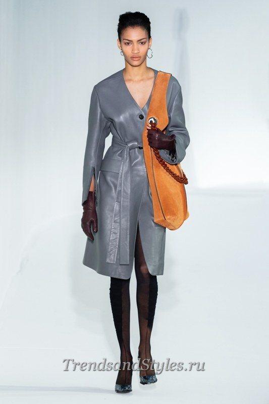 кожаное пальто 2020