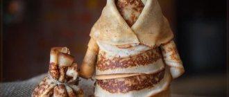 Кукла из блинов на Масленицу: мастер-класс, подробное описание