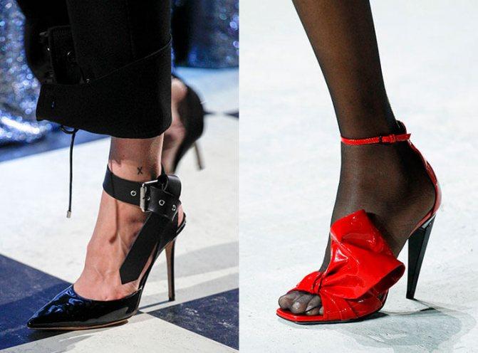 Лаковые туфли осень-зима 2017-2018: Monse, Saint Laurent