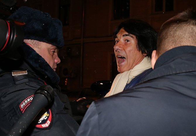 Лидер группы Space и его адвокат в ходе следственных действий были задержаны в одном из столичных банков. Фото: Артем Геодакян/ТАСС