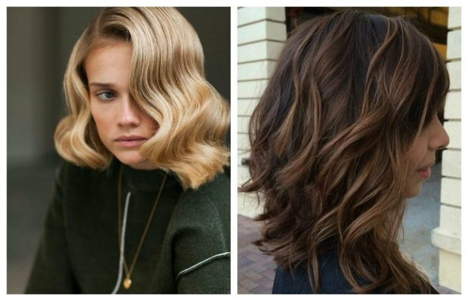 Локоны или волны на средние волосы, фото