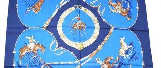 Лошади - традиционный рисунок Hermes