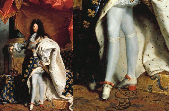 Людовик XIV и каблуки