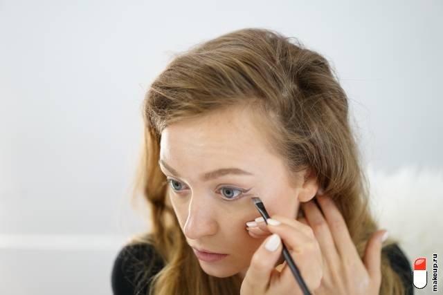 макияж с двойными стрелками