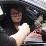 Мама Жанны Фриске Ольга Копылова на церемонии прощания с дочерью