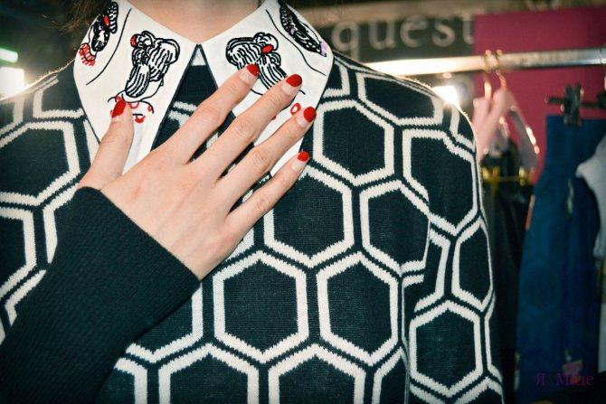 Маникюр в стиле Лабутена – двухсторонний nail-арт