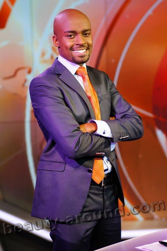 Марк Масаи красивый африканский ведущий из Кении фото