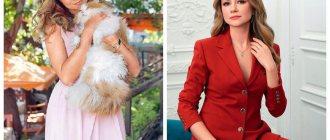 Маша позирует с котом на руках и в студии