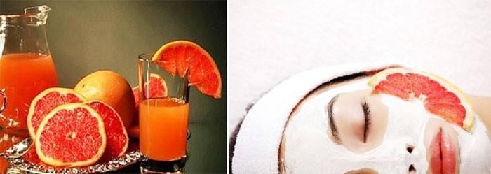Маска для лица с грейпфрутом