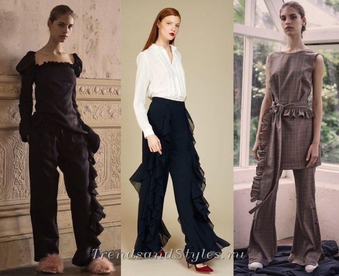 модная одежда 2018-2019 с воланами