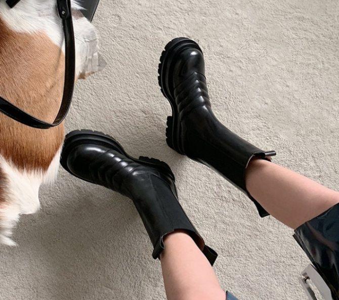 Модные ботинки Bottega Veneta