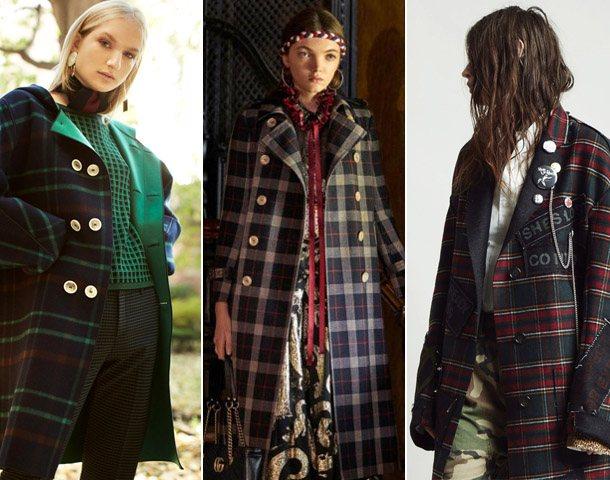 Модные клетчатые пальто 2019
