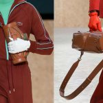 Модные перчатки крупным планом