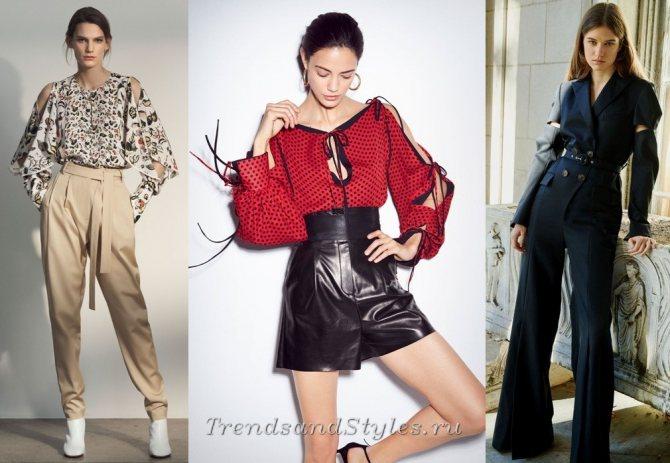 модные тенденции осень-зима 2018-2019 - разрезы на рукавах