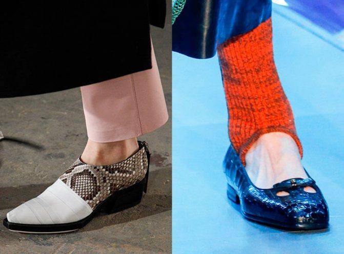 Модные туфли осень-зима 2017-2018: Proenza Schouler, Gucci