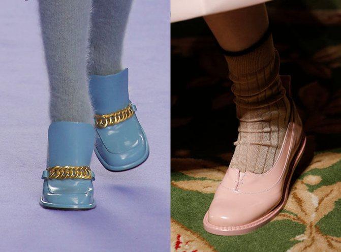 Модные туфли осень-зима 2017-2018 с носками: Mulberry Simone, Rocha