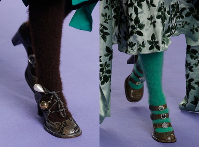 Модные туфли осень-зима 2017-2018 с носками: Mulberry