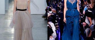 Модные вечерние платья осень-зима 2017-2018