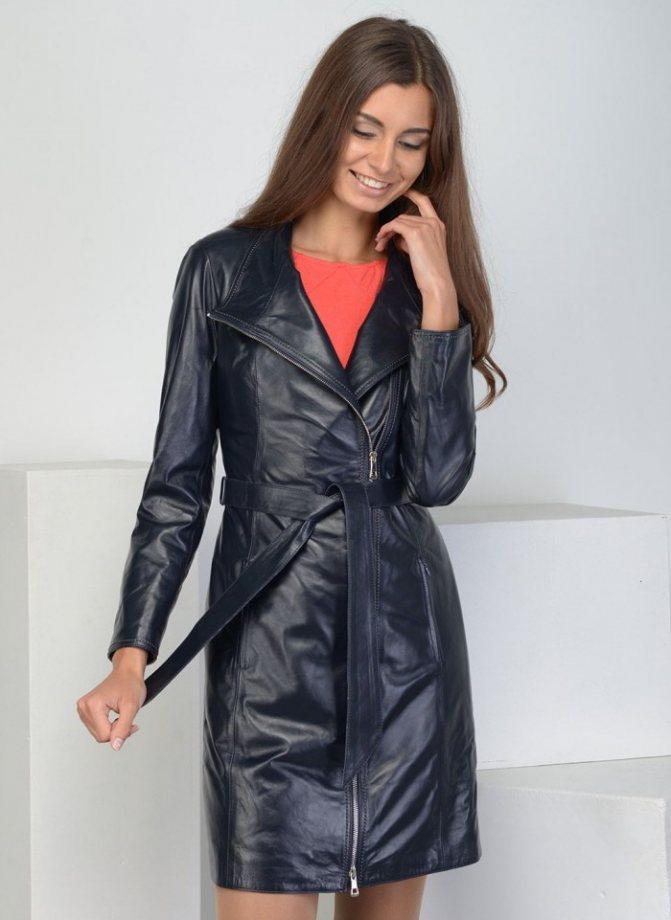 Модные женские кожаные пальто осень-зима 2019-2020