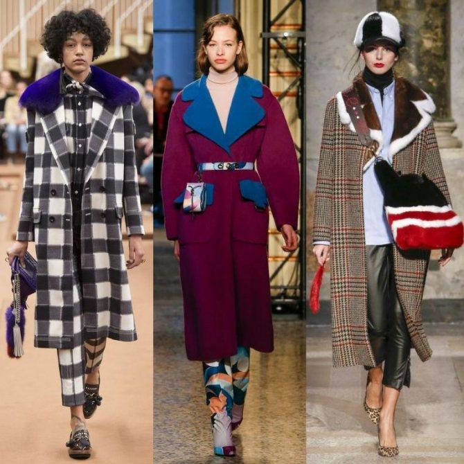 Модные женские пальто осень-зима 2019-2020 фото