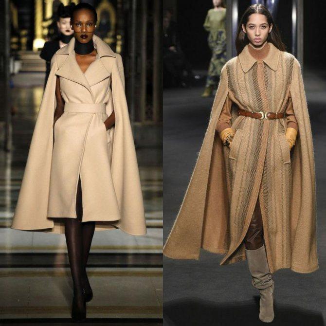Модный крой пальто без пуговиц демонстрирует расслабленный и мягкий образ. При ходьбе полы двигаются произвольно и создают текучесть, динамику. При желании можно зафиксировать полочки пальто поясом.