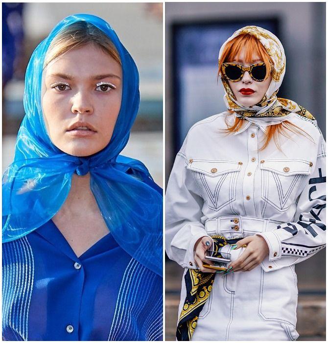 Модный тренд лета 2020: завязываем платок на голове 5