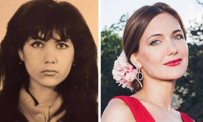 На фото Екатерина Климова в молодости и сейчас