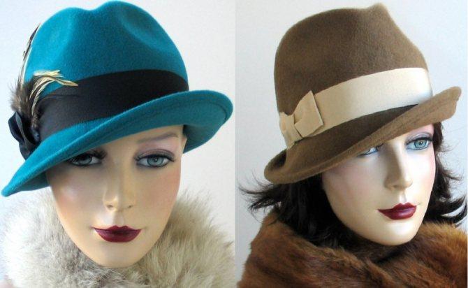 на фото фетровые женские шляпы