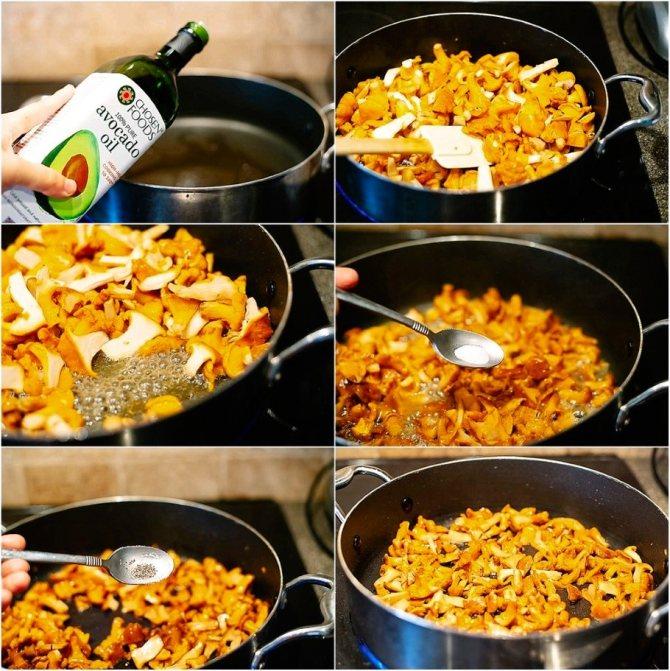 Нагрейте большую сковороду