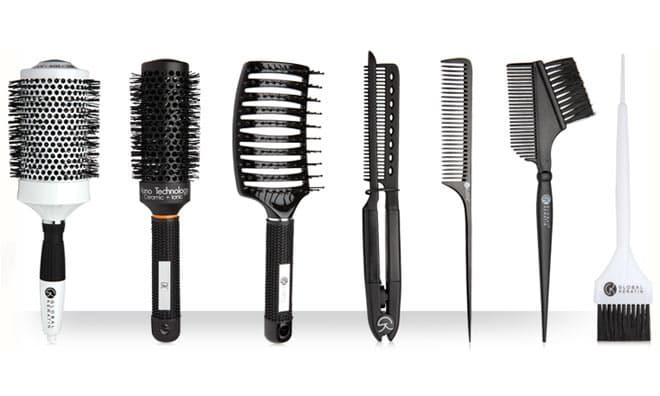 Нужны специальные расчески для легкой вечерней прически на средние волосы